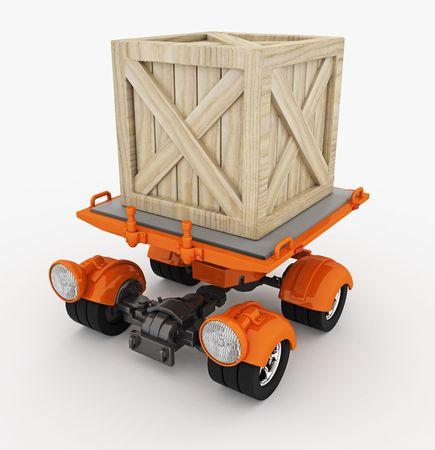 Small cargo transportation vehicle, 3d, isolated Stock Photo - 4875032