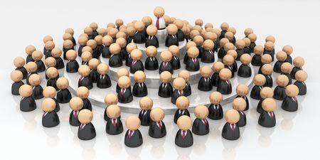 subordinates: Business symbols 3d, small figure group