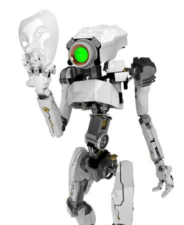 Slim 3d robotic figure, isolated Stock Photo - 5118136
