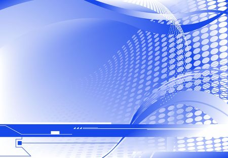 Blue horizontal sci-fi abstract background, gradient mesh used photo