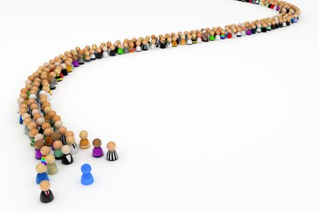 the masses: Multitud de peque�as figuras simb�licas 3d, aisladas