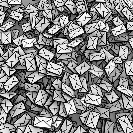 forwarding: Muchos peque�os s�mbolos 3D mensaje de correo electr�nico, la plaza