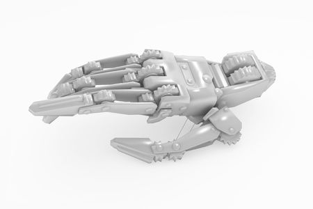 White 3d Mechanical hand model, isolated photo