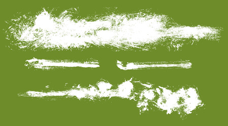 streak: Set of 4 grunge paint streak design elements, vector
