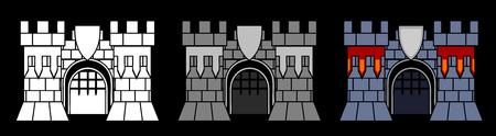 Castle Gate vector design element, several color variants Stock Vector - 5566418