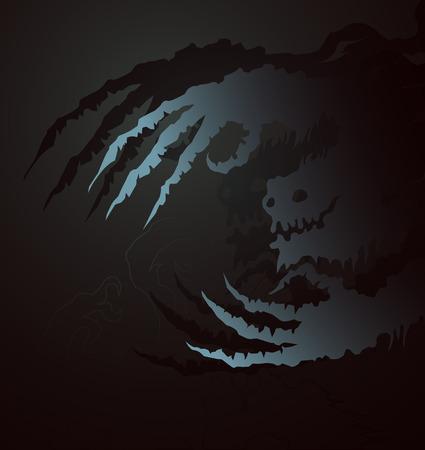 ghostly: Ghostly bogeyman Halloween vector Illustration