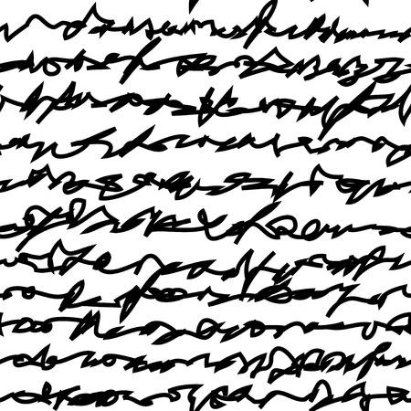 Seamless tile vector texture pattern, hand written text  イラスト・ベクター素材