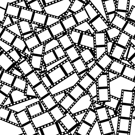 Tuiles sans soudure vecteur texture patron, noir et blanc film  Vecteurs