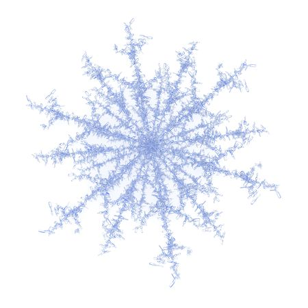 Isolated blue 3d ice crystal snowflake