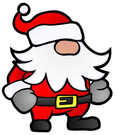 enano: Dibujos animados peque�as Santa Claus, estilizada ilustraci�n de Navidad, aislado Vectores