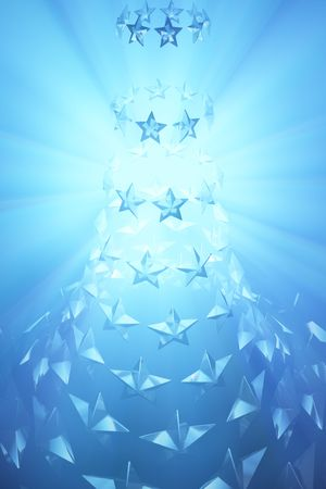 Abstract star shape 3d colored light background Stock Photo - 6081019