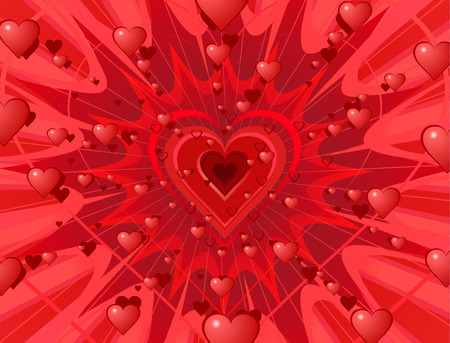 Valentine hearts abstract background splash.