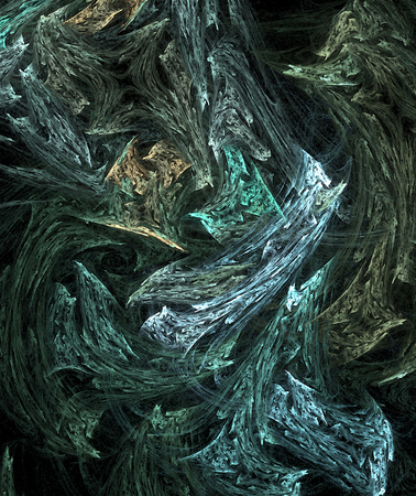 Blue fantasy wood texture colored abstract, vertical, over black background