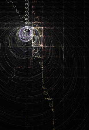 Light wave radar signal line abstract, vertical background