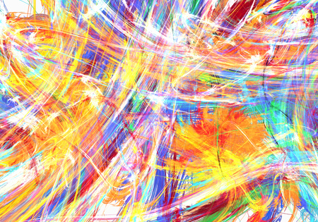 Paint splash flame abstract, many color horizontal background