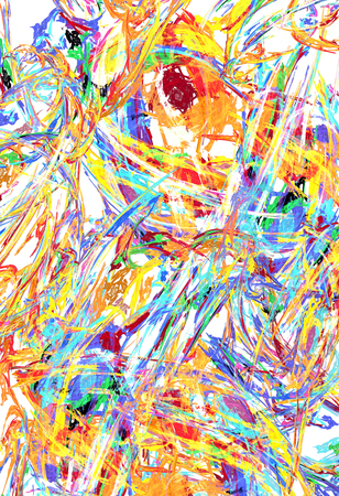 Paint splash mixed colors streaks abstract, vertical background