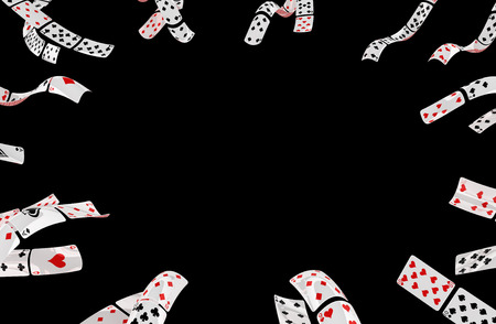 Poker cards abstract background