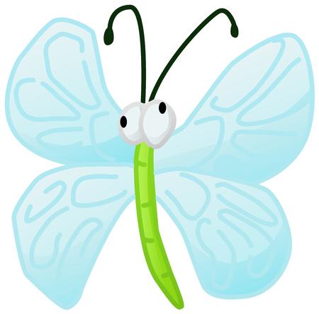Winged bug cartoon illustration