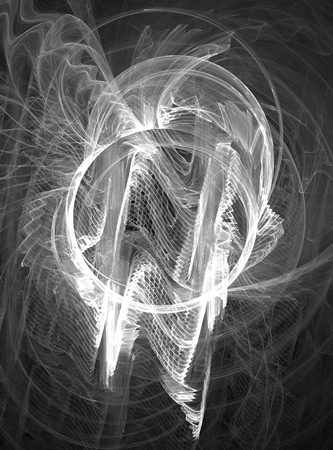 White light circle disruption ripples wavelength signal abstract, vertical Stok Fotoğraf