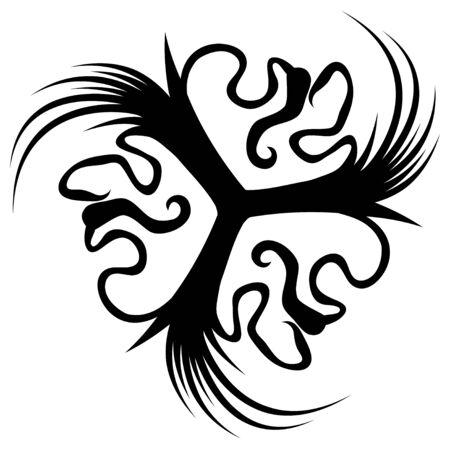Masks three spinner stencil black, vector illustration, horizontal, isolated