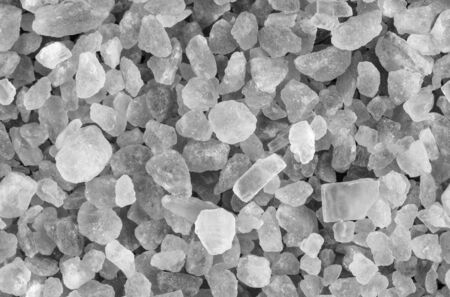 Seamless colorless himalayan crystal salt texture top view horizontal format