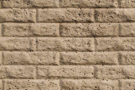 Old dusty vintage brick wall texture background, horizontal
