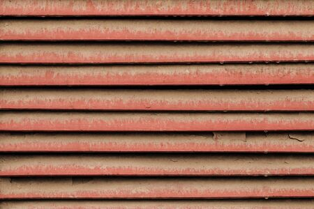 Old dusty louver metal texture background, horizontal