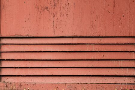 Old dusty painted louver metal texture background, horizontal