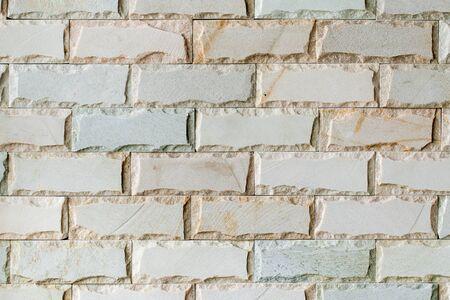 Decorative white brick tile texture background, horizontal