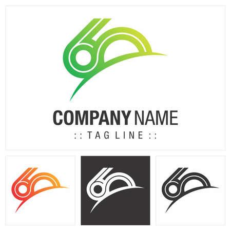 Anniversary (Number 60) Vector Symbol Company Logo. Infinite Symbol (Unlimited) Style Logotype. Number logo icon illustration. Elegant Identity Concept Design Idea Template (Branding). Logo