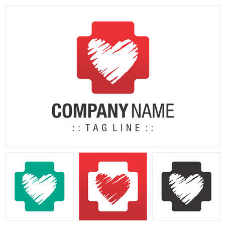 Cross (Hospital, Medicine, Doctor, Clinic) Vector Symbol Company Logo (Logotype). Medical Health Icon Illustration. Elegant and Modern Identity Concept Design Idea Brand Template.