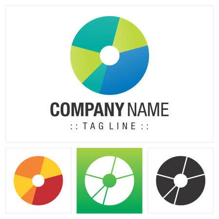 Letter O (Typography) Vector Symbol Company Logo (Logotype). Geometric Multi-colored Style Icon Illustration. Elegant Identity Concept Design Idea Brand Template.