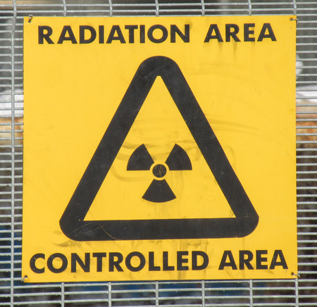 Radiation controlled area warning sign