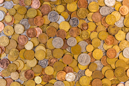South african currency coins closeup picture Stock fotó