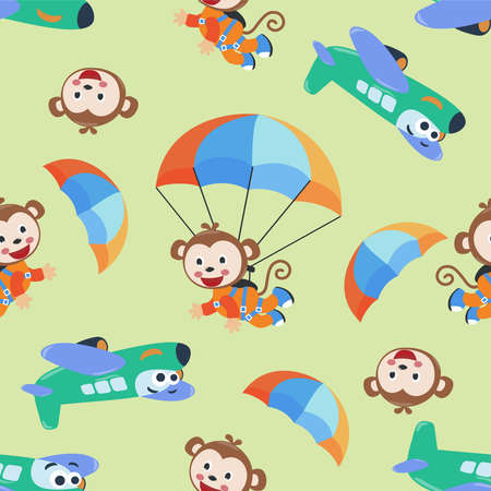 cute pirate monkey vector illustration with cartoon style. Creative vector childish background for fabric, textile, nursery wallpaper, poster, card, brochure. and other decoration.