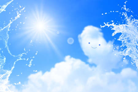 Cumulonimbus watches over a fun summer day with a smile