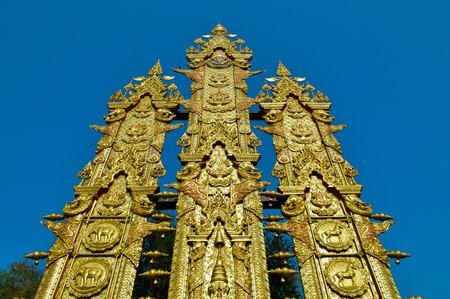cordiality: Thai Lanna Grand Flag with blue sky