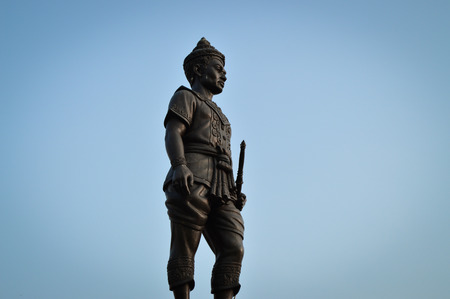 cordiality: Isolated on blue sky  King Mangrai Monument in Chiang Rai