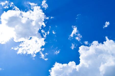 cumuli: cloud in the blue sky Stock Photo