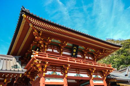 Kamakura at Kanagawa,Japan - March 31,2014: Tsurugaoka Hachimangu Shrine. Editorial