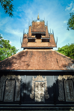 Chiang Rai, Thailand - June 23, 2017 : Baandam Museum (Black House), a place for collecting the local art, created and designed by Thawan Duchanee.