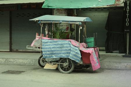 Street food vendor cart in Chiang Mai, Thailand