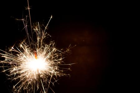Firework sparkler burning