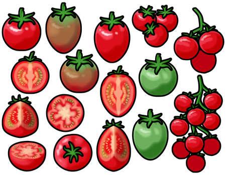 Various mini tomatoes