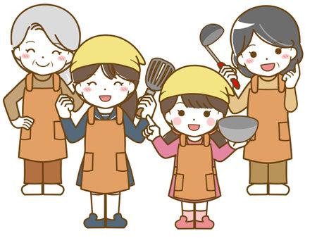 Women Fun Cooking Practice