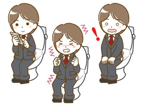 Men's toilets in suits Vektorové ilustrace