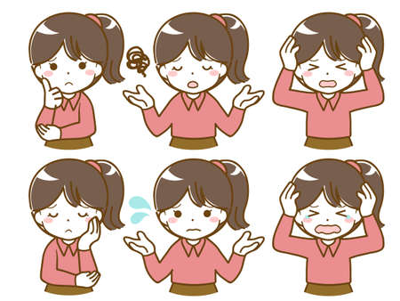 A girl's troubled expression