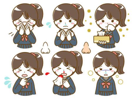 Schoolgirls with nose abnormalities