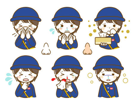 Kindergarten boy with nose abnormality