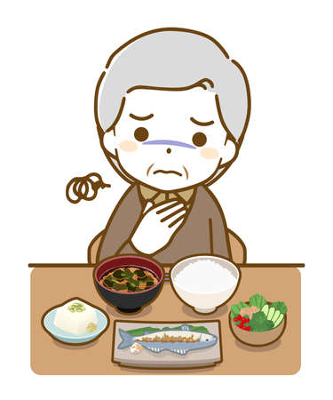 an elderly man who has no appetite